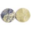 25mm Yellow Turquoise Round Shape Semi-Precious
